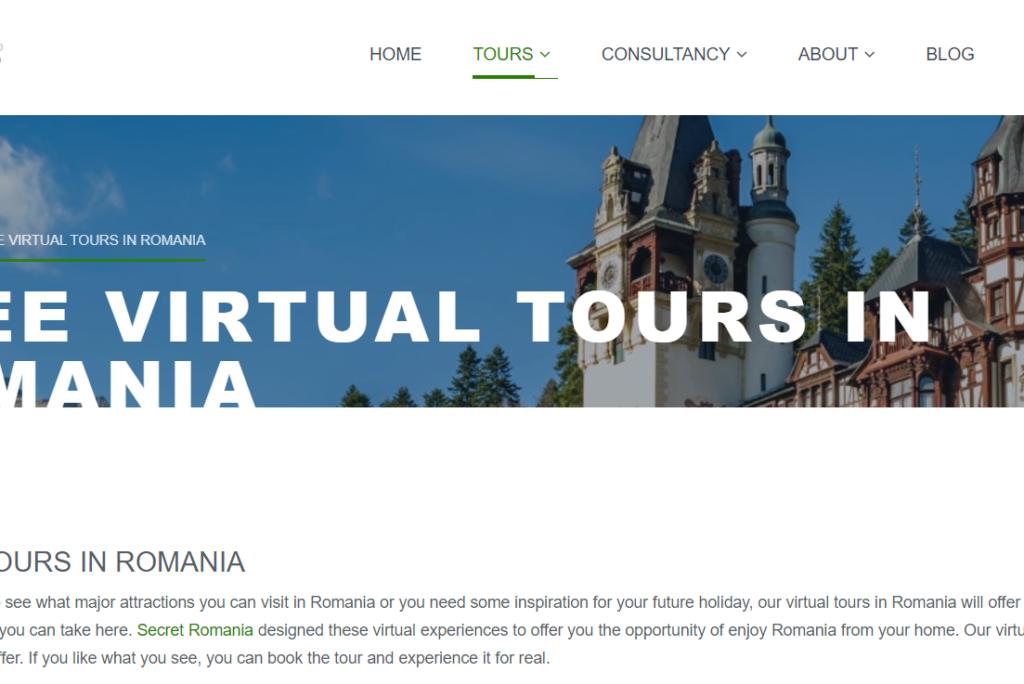 Secret România, agenție de incoming, oferă gratuit tururi virtuale în România